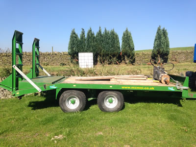 10 ton plant trailers for hire