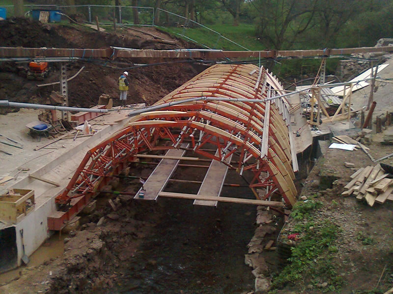 Gurnett Bridge - falsework